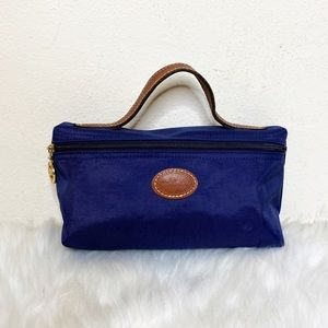 Longchamp Le Pilage Zip Cosmetic Bag Navy Small